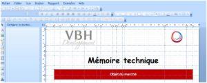 édition et modification du mémoire technique