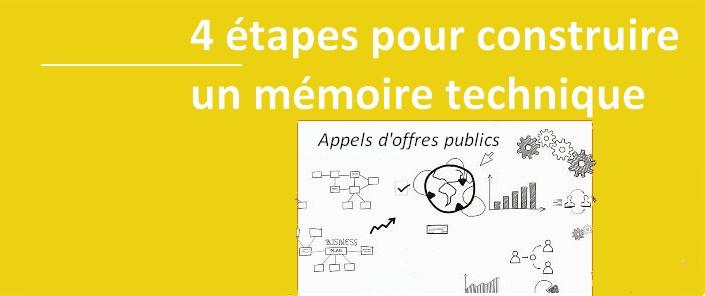 4 étapes pour construire un mémoire technique